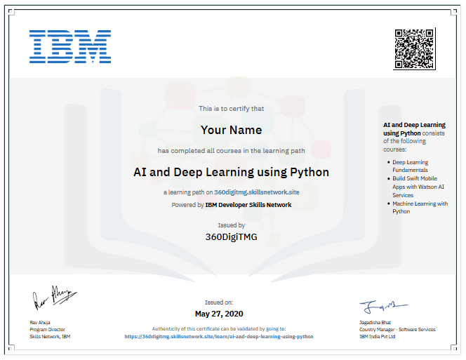 artificial intelligence ibm certificate in malaysia - 360digitmg