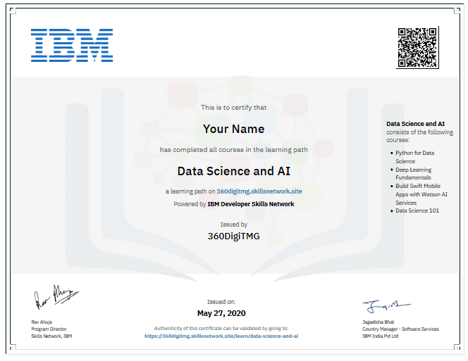 professional certification program in data science and ai