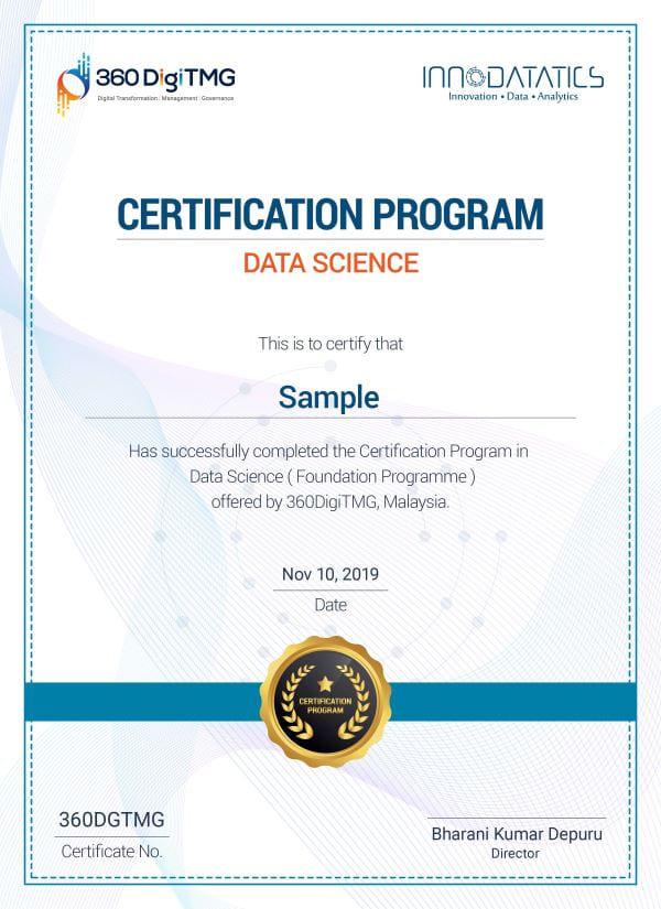 data science foundation certificate course - 360digitmg