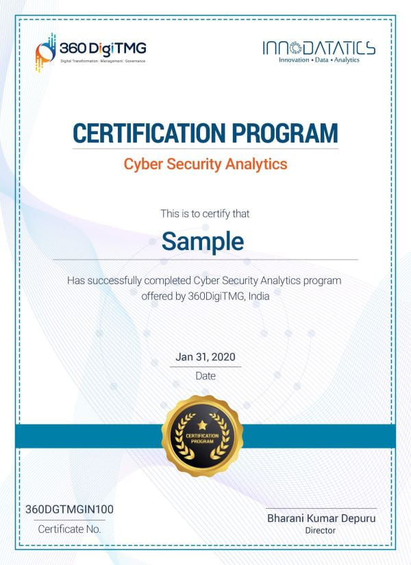 cyber security analytics certification course in india - 360digitmg