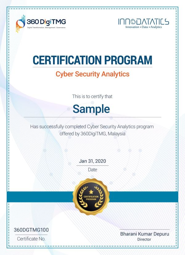 cyber security analytics certificate course in malaysia - 360digitmg