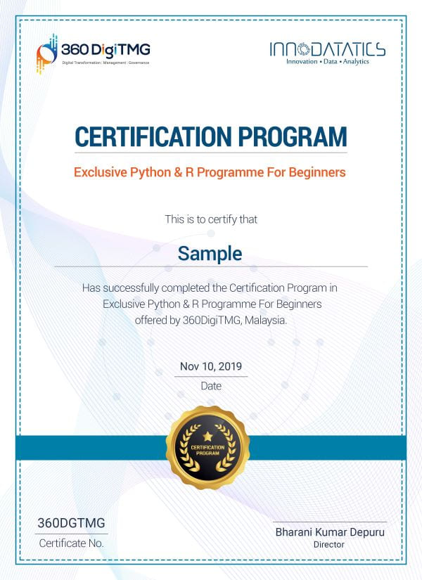 r and python certification