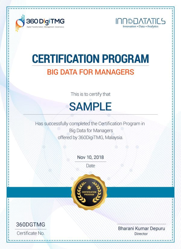 big data certification for managers