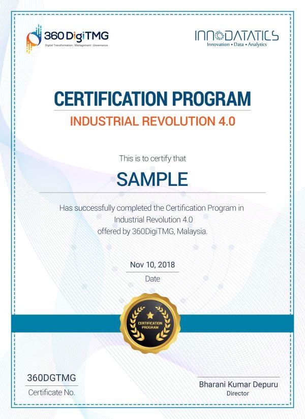 IR 4.0 course certification - 360digitmg