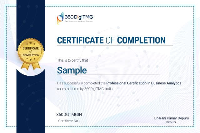 business analytics certification course