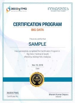 Big Data certification - 360digitmg